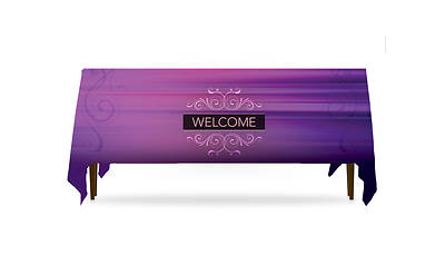 Picture of Together Welcome Table Throw 3-Sided - 8'