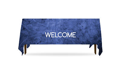 Picture of Adornment Welcome Table Throw