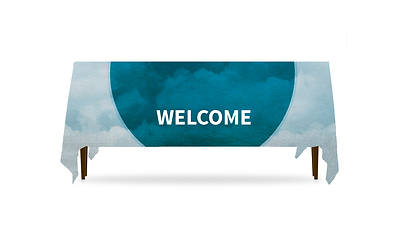 Picture of Celestial Welcome Table Throw 3-Sided - 6'