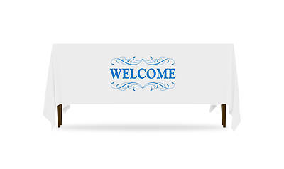 Picture of Filigree Welcome Table Throw 4-Sided - 6'