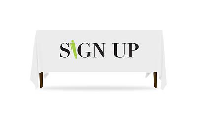 Icon Sign Up Table Throw