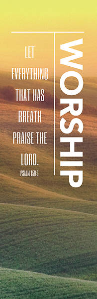 Picture of Phrases Worship Vertical 2' x 6' Banner