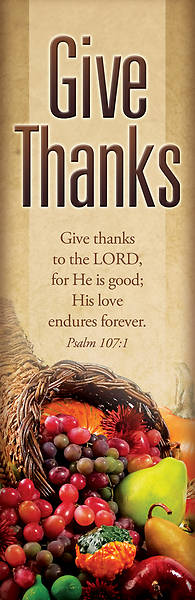 Picture of Give Thanks 2' x 6' Banner