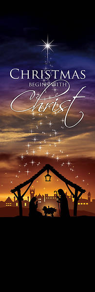 Christmas Begins With Christ 2 x 6 Banner