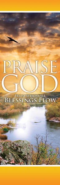 Picture of Praise God 2' x 6' Banner