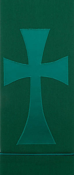 Picture of Pure and Simple Cross Deluxe Altar Frontal Green