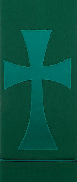 Picture of Pure and Simple Cross Deluxe Altar Runner Green