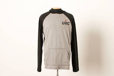 Picture of UMC Light Weight Hoodie Black/Heathered Nickel - Medium