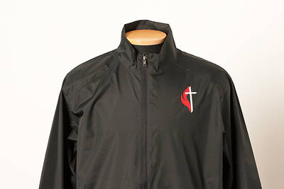 Picture of UMC Windbreaker with Cross and Flame Black - 4X-Large