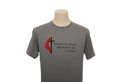 Picture of UMC Wesley Prayer Dri-Power Tee Oxford - Medium