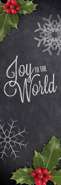Picture of Joy To The World Chalk  2' x 6' Banner