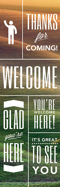 Picture of Phrases Welcome 2' x 6' Banner