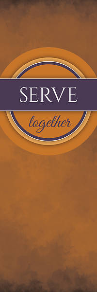 Picture of Together Circles Serve 2' x 6' Banner