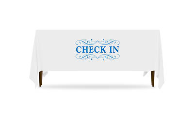 Picture of Filigree Check In Table Throw 4-Sided - 8'
