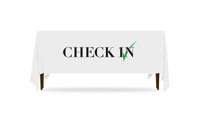 Icon Check In Table Throw