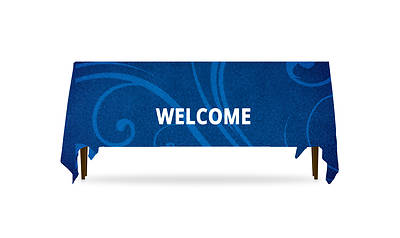 Picture of Flourish Welcome Table Throw 3-Sided - 8'