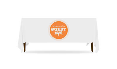 Guest Circles Info Orange Table Throw