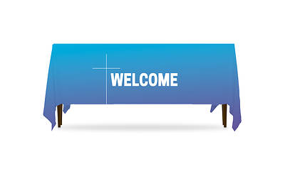 Color Wash Welcome Table Throw
