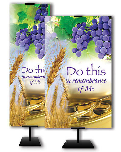 Picture of Do This In Remembrance of Me Communion Banner