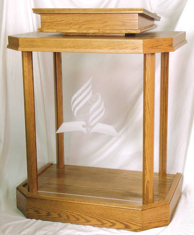 Woerner 3380 Wood and Acrylic Pulpit