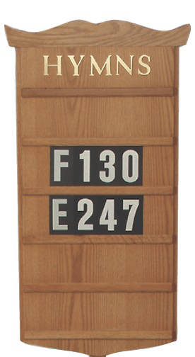 Picture of Woerner 239H Wall Mounted Hymn Board