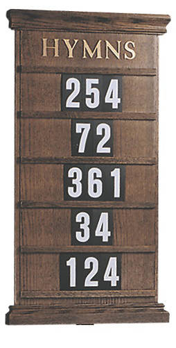 Picture of Woerner 234H Wall Mounted Hymn Board