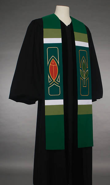 Picture of Abbott Hall 8500 Revelation Series Green Stole