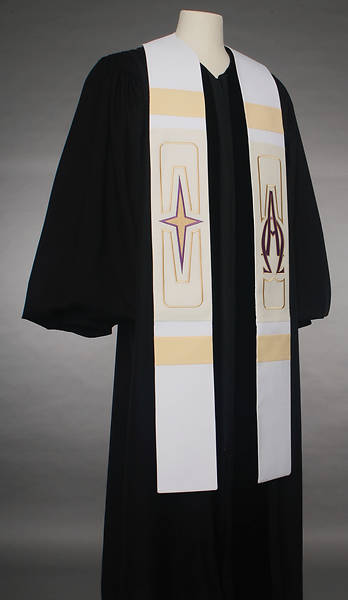 Picture of Abbott Hall 8500 Revelation Series White Stole