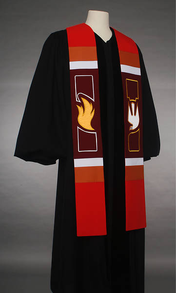 Abbott Hall 8500 Revelation Series Red Stole