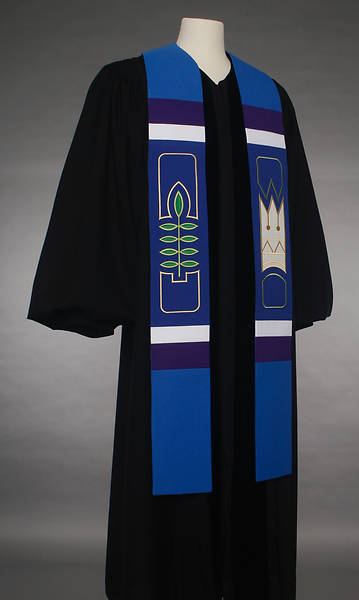 Picture of Abbott Hall 8500 Revelation Series Blue Stole