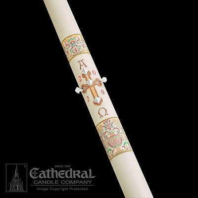 "Picture of Cathedral Investiture Paschal Candle 3"" - 36"""