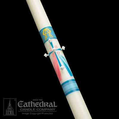 Cathedral Divine Mercy Paschal Candle