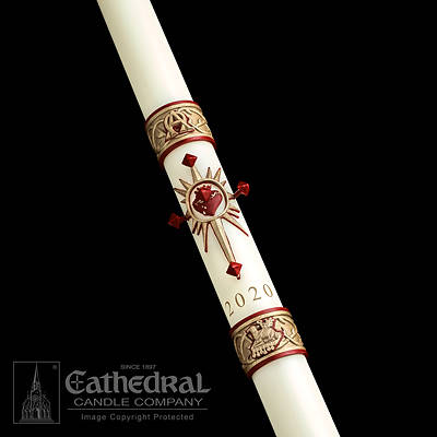 Picture of Cathedral Sacred Heart Paschal Candle