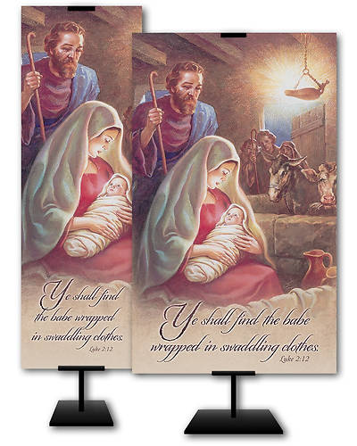 Ye Shall Find the Babe Christmas Banner
