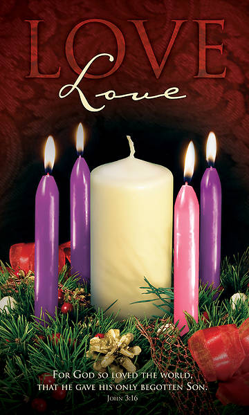Picture of Love Advent Wreath Week 4 Banner Vinyl w/ Eyelets - 3' x 5'