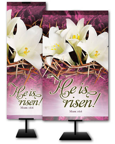 He is Risen Easter Banner