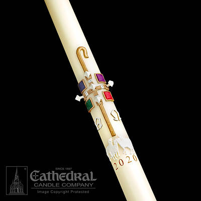 "Picture of Cathedral The Good Shepherd Paschal Candle 2-1/16"" - 42"""