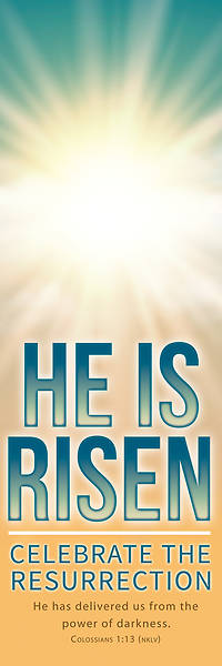 Picture of He is Risen Easter Sky Banner