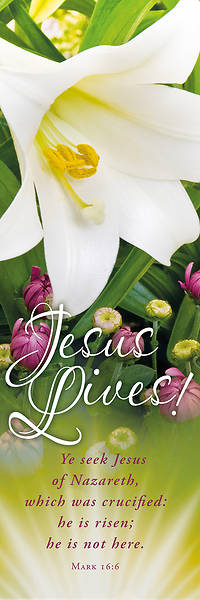 Picture of Jesus Lives Easter Flowers Banner
