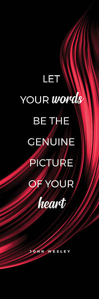 Picture of Let Your Words Color Swirl Words of Wesley Hanging Banner