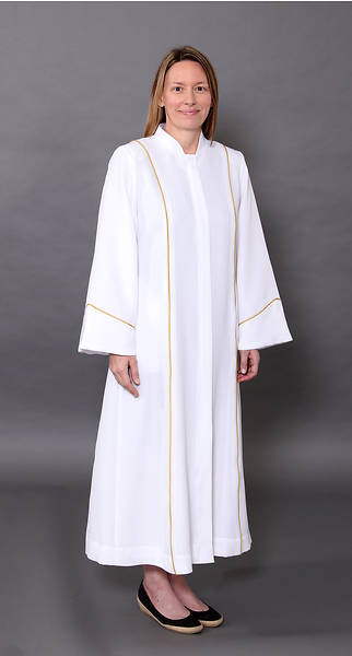 Picture of Abbott Hall White Celeste 5 Women's Speedship Pulpit Robe
