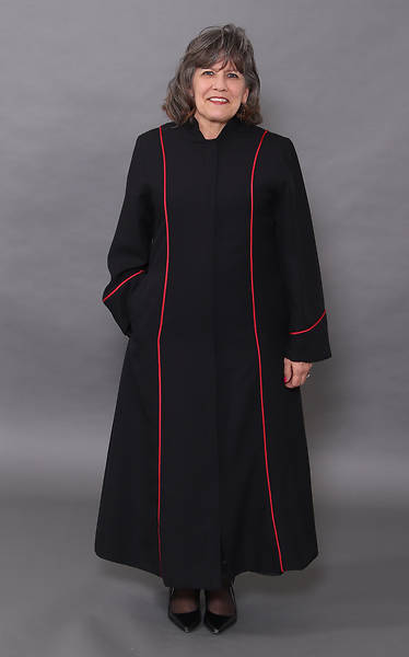 Abbott Hall Black Celeste 5 Women's Speedship Pulpit Robe