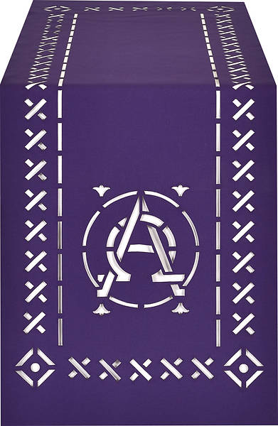 Picture of PraiseBanners Ecclesiastical Collection Alpha Omega Altar Overlay