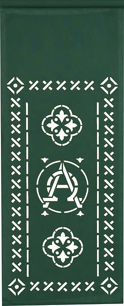 PraiseBanners Ecclesiastical Collection Alpha Omega Pulpit Scarf
